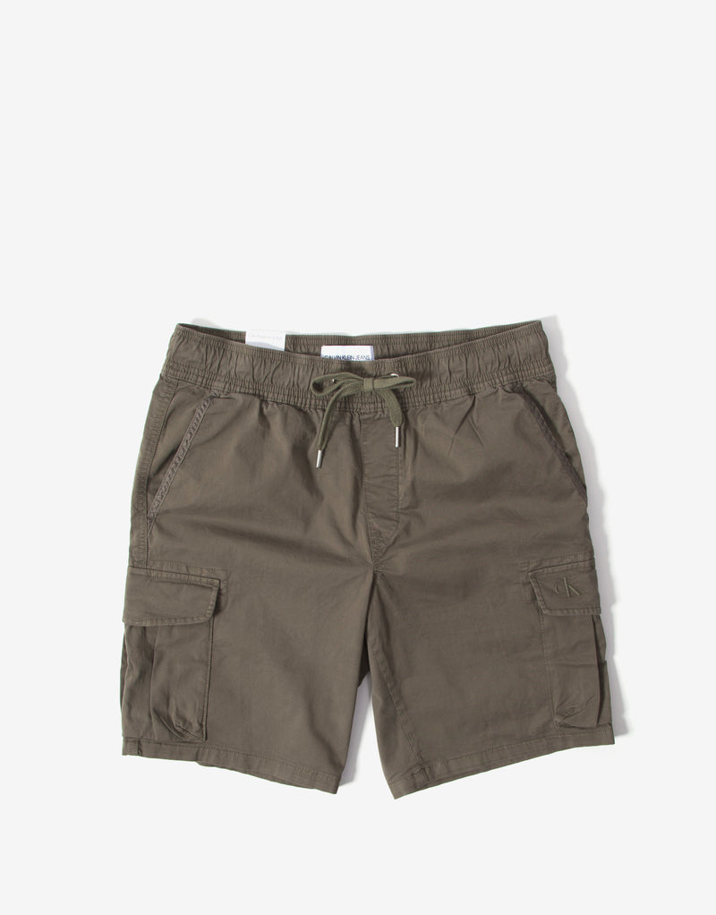 Calvin Klein Simple Washed Cargo Short - New Basil
