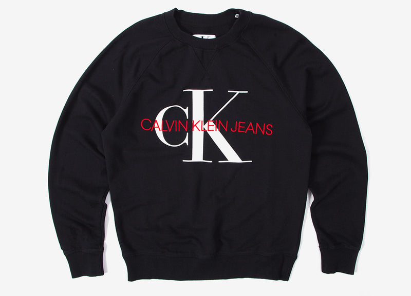 Calvin Klein Washed Reg Monogram Sweatshirt - CK Black