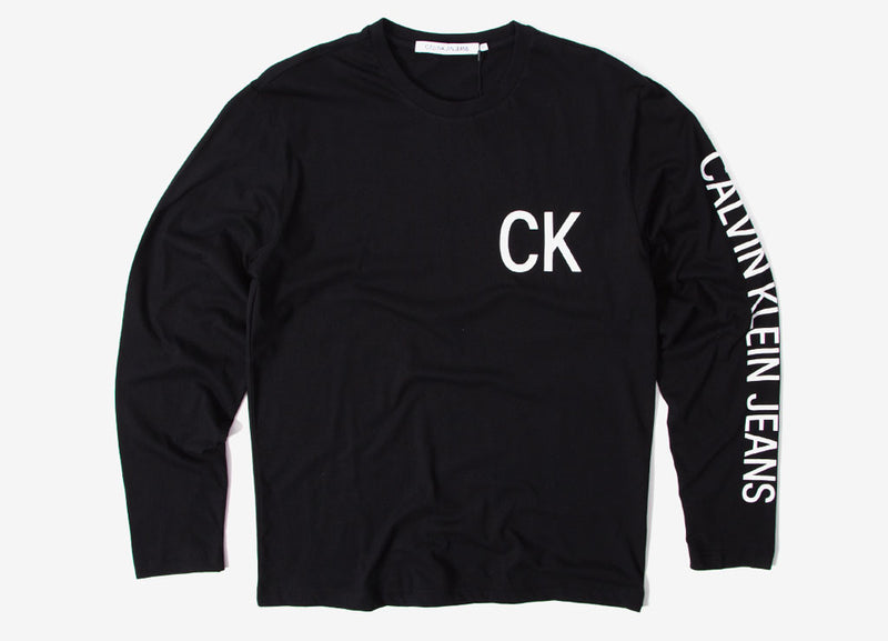 Calvin Klein Jeans On The Back Long Sleeve T Shirt - CK Black
