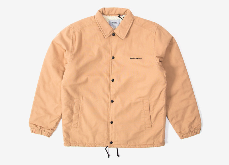 Carhartt Canvas Coach Jacket - Dusty Hamilton Brown/Black
