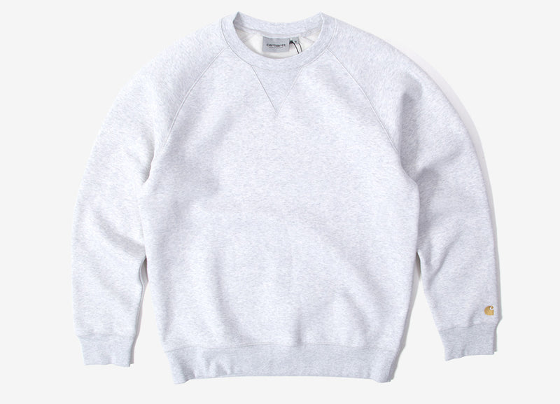 Carhartt Chase Crewneck Sweatshirt - Ash Heather/Gold