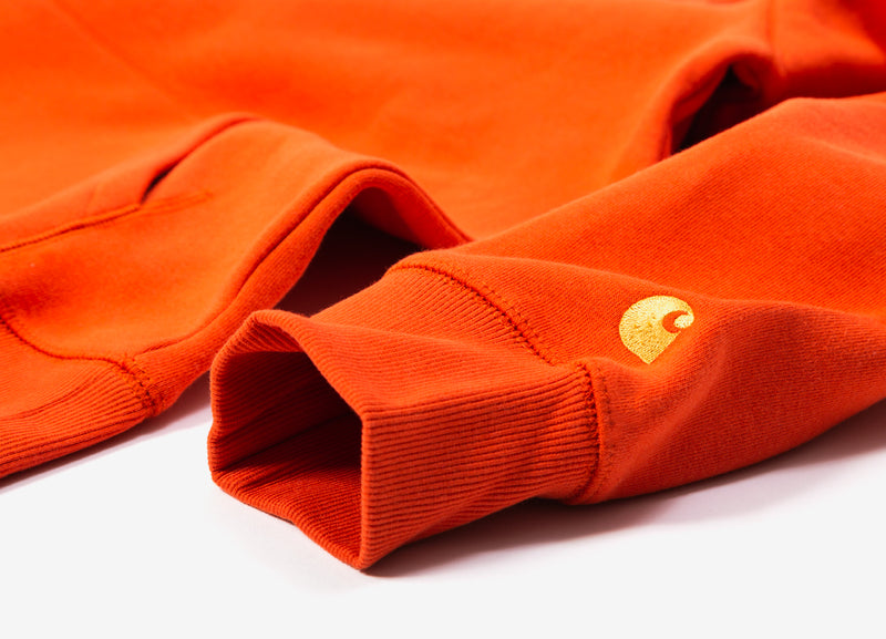 Carhartt Hooded Chase Sweatshirt - Brick Orange/Gold
