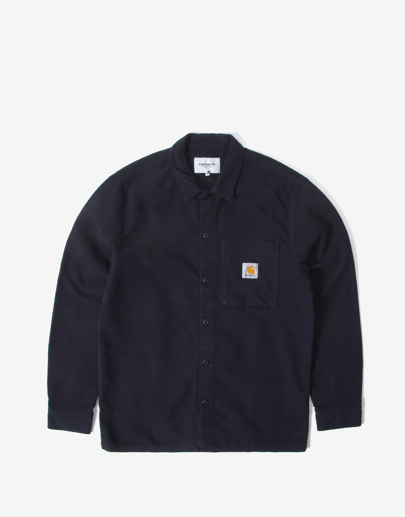 Carhartt Holston Shirt - Dark Navy Rinsed