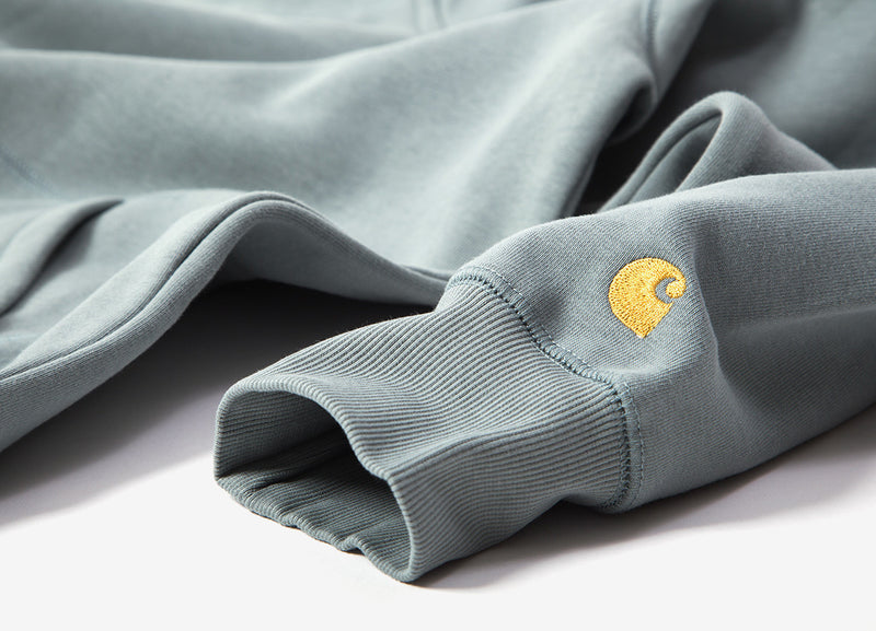 Carhartt Hooded Chase Jacket - Cloudy/Gold