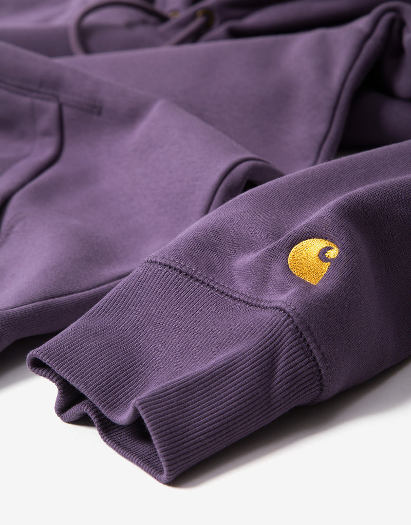 Carhartt Hooded Chase Sweatshirt - Provence/Gold