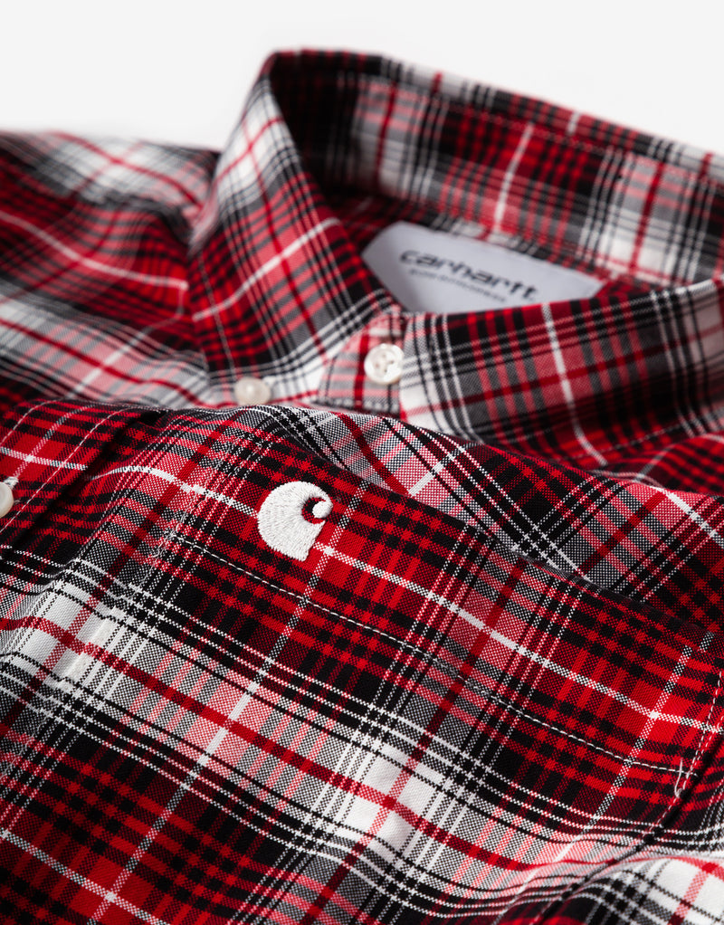 Carhartt WIP Linville Shirt - Linville Check/Cardinal/Wax