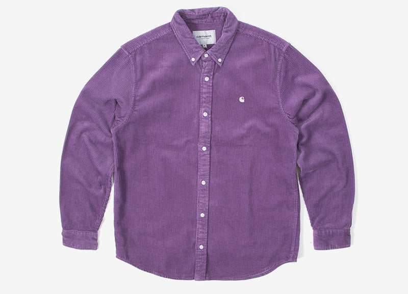 Carhartt Madison Cord Shirt  - Dusty Mauve/Cinder