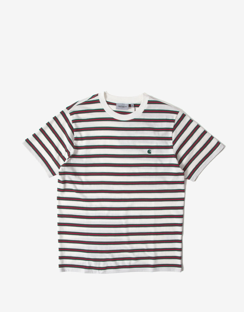 Carhartt Oakland Stripe T Shirt - Wax/Treehouse