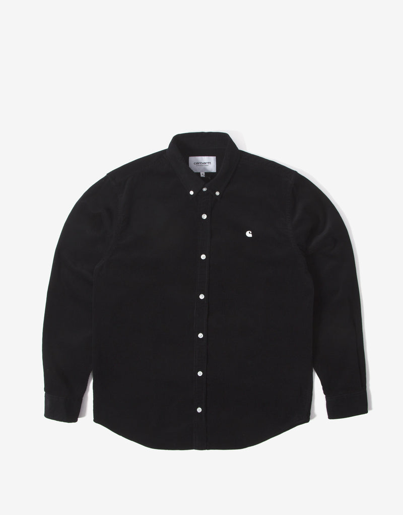 Carhartt WIP Madison Fine Cord Shirt - Black