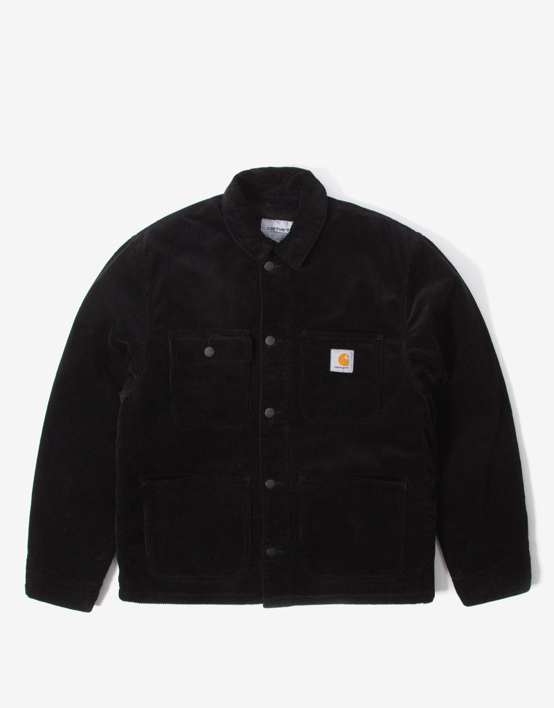 Carhartt WIP Michigan Chore Coat - Black Rinsed