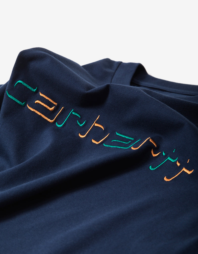 Carhartt WIP Shadow Script T Shirt - Blue