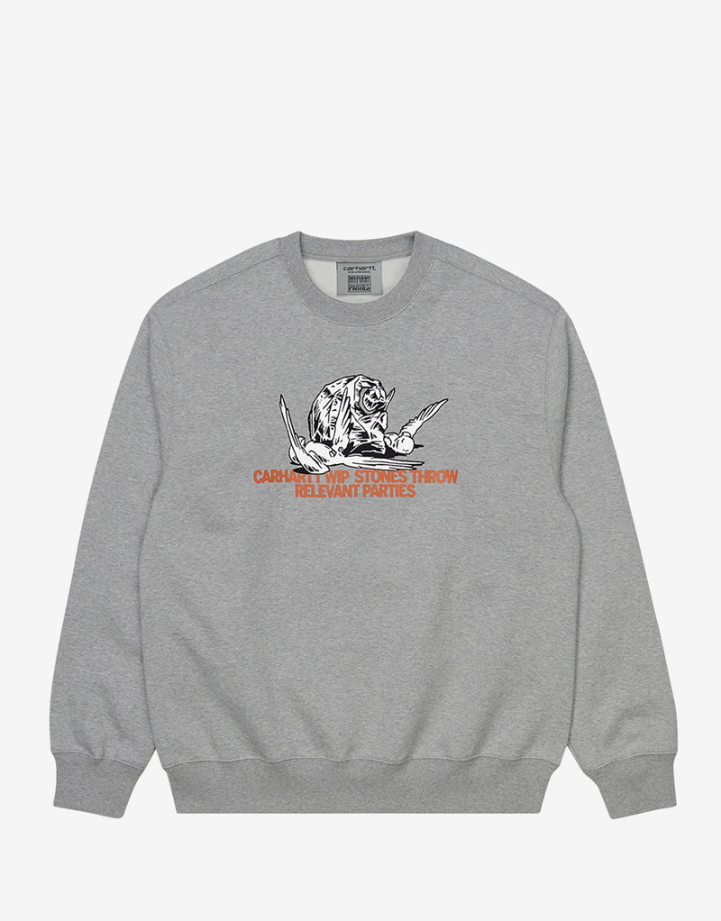 Carhartt WIP x Relevant Parties Stones Throw Sweatshirt - Grey Heather