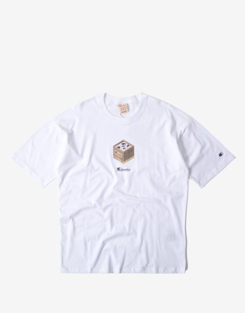 Champion Box Graphic T Shirt - White
