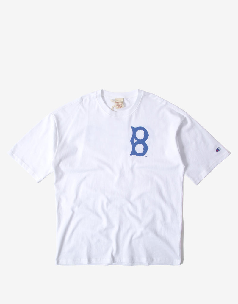 Champion Crewneck Boston T Shirt - White