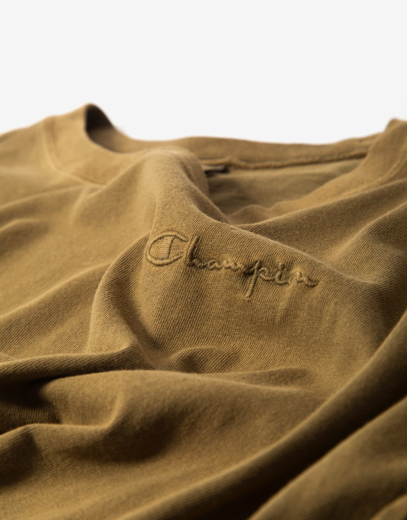 Champion Crewneck T Shirt - Olive
