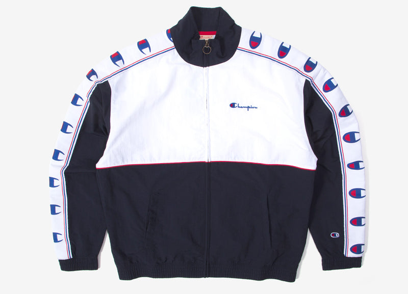 Champion Full Zip Track Jacket - Navy/Red/White