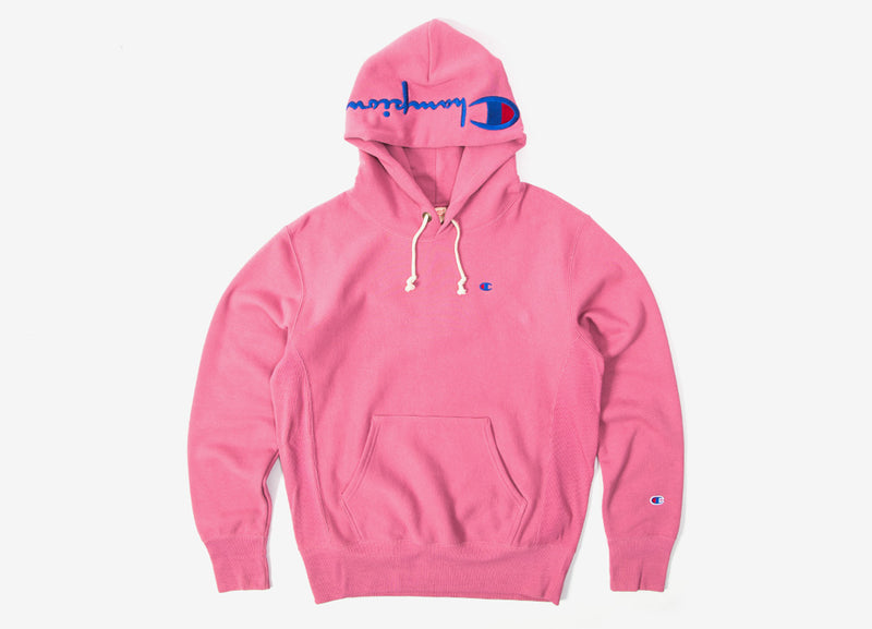 Champion Reverse Weave Embroidered Pullover Hoody - Pink