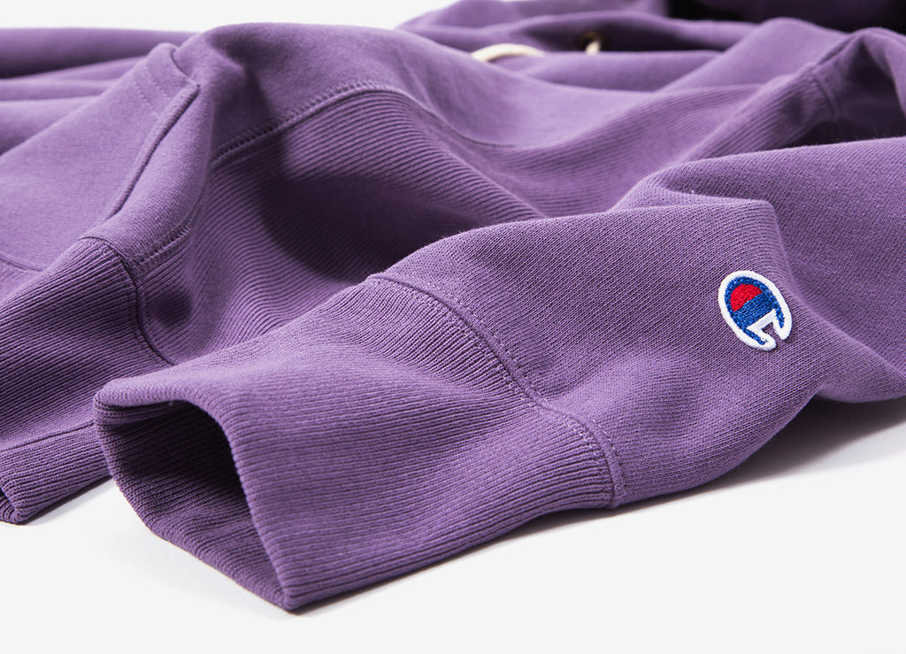 Champion Reverse Weave Embroidered Pullover Hoody - Purple