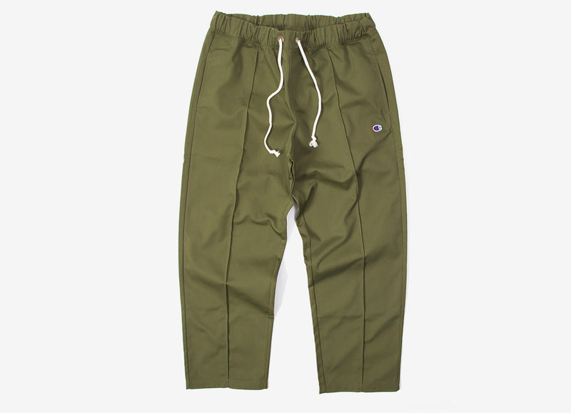 Champion Straight Hem Pants - Olive