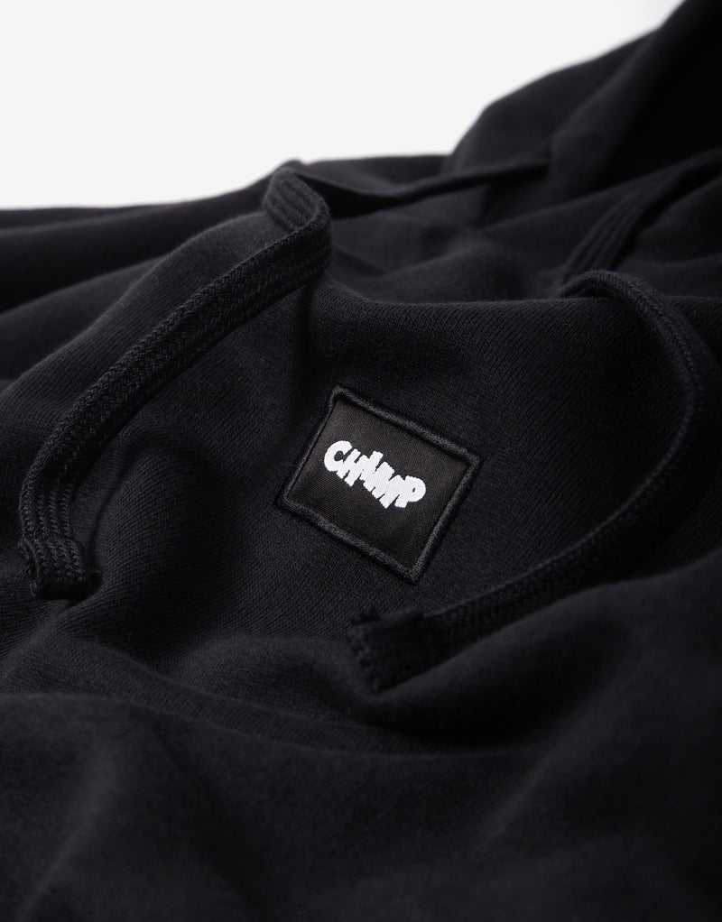 Chimp Athletic Badge Hoody - Black