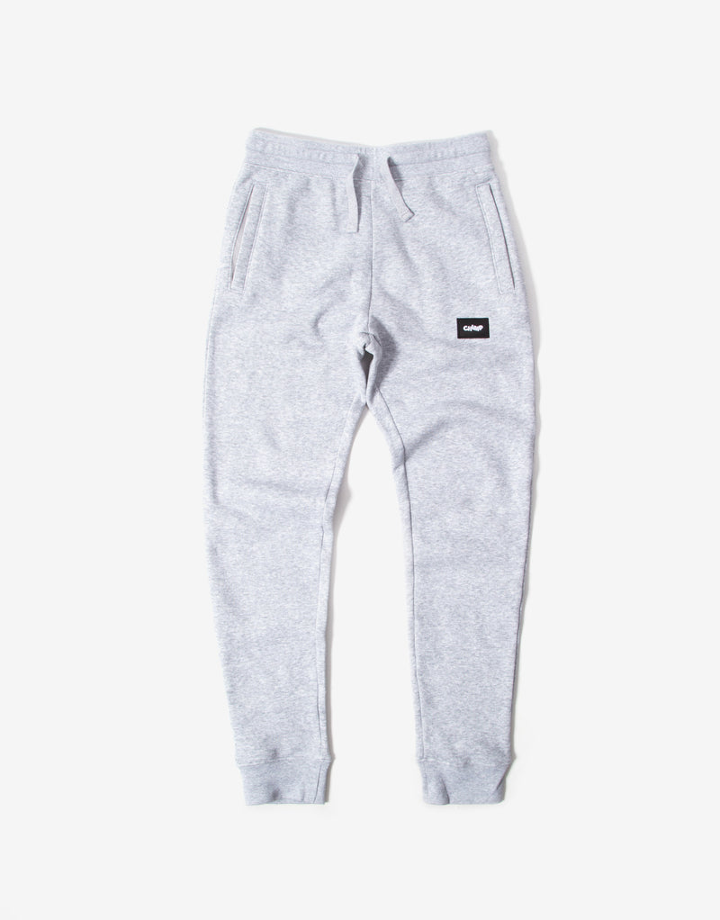 Chimp Athletic Badge Sweatpants - Light Oxford Grey