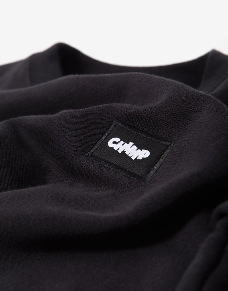 Chimp Athletic Badge Sweatshirt - Black