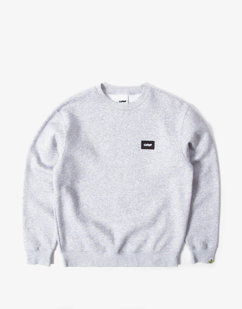 Chimp Athletic Badge Sweatshirt - Light Oxford Grey