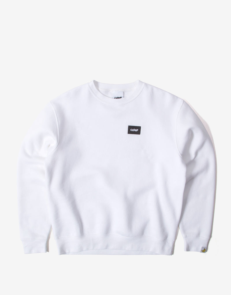 Chimp Athletic Badge Sweatshirt - White