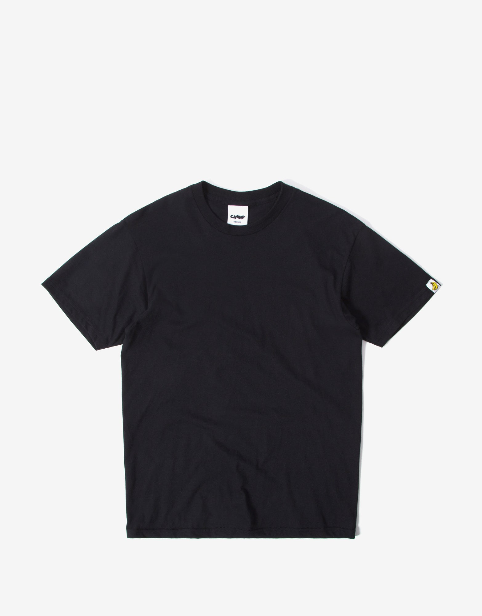 Chimp Heavyweight Premium Basic T Shirt - Black