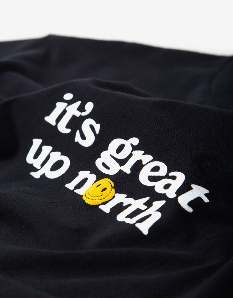 Chimp It's Great Up North T Shirt - Black