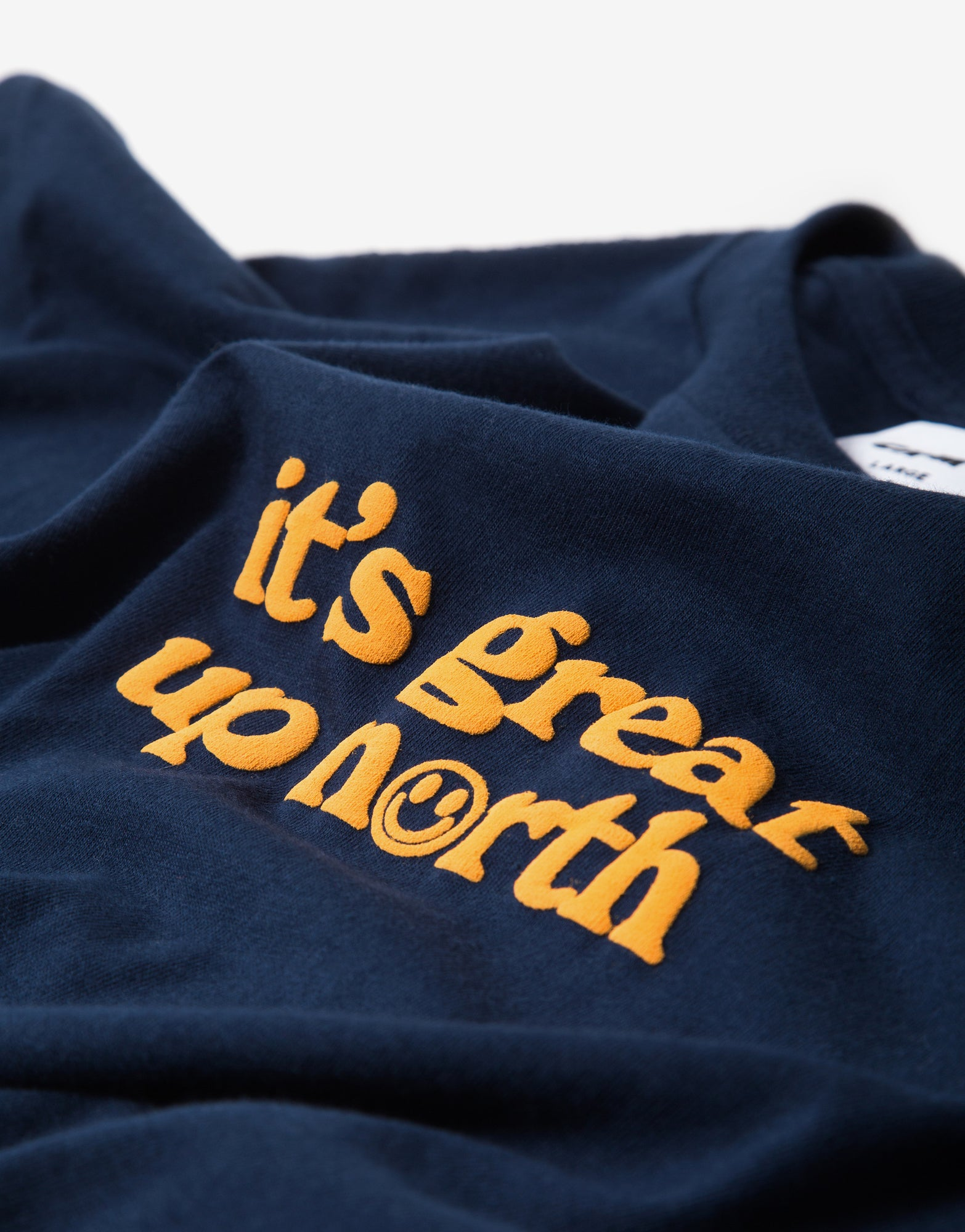 Chimp It's Great Up North T Shirt - Navy