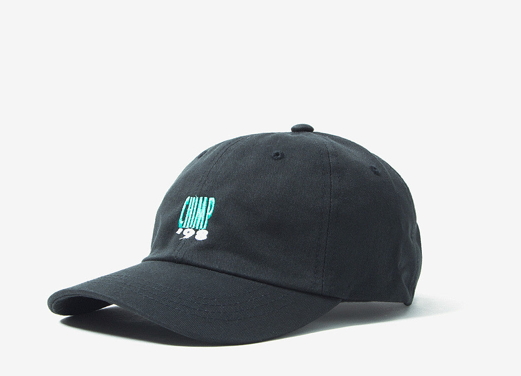 Chimp Smooth 6 Panel Dad Cap - Black