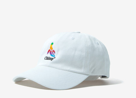 Chimp Throwback 6 Panel Dad Cap - White