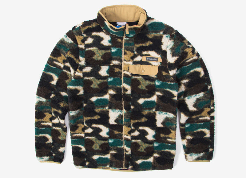 Columbia Mountain Side Heavyweight Fleece Jacket - Crouton Camo