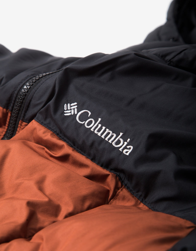 Columbia Pike Lake Hooded Jacket - Dark Amber/Black