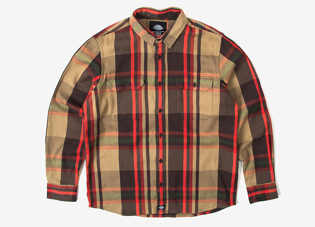 Dickies Meadville Shirt - Chocolate Brown