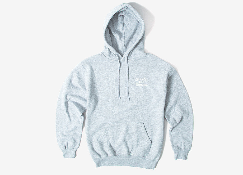 Don't Mess With Yorkshire  Rose Pullover Hoody - Sports Grey