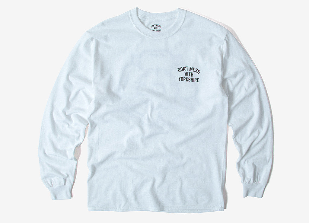Don't Mess With Yorkshire  Rose L/S T Shirt - White