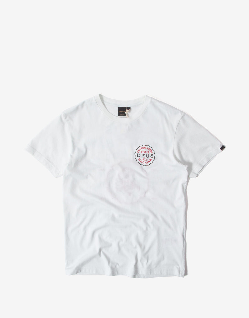 Deus Ex Machina Camperdown Address T Shirt - Vintage White