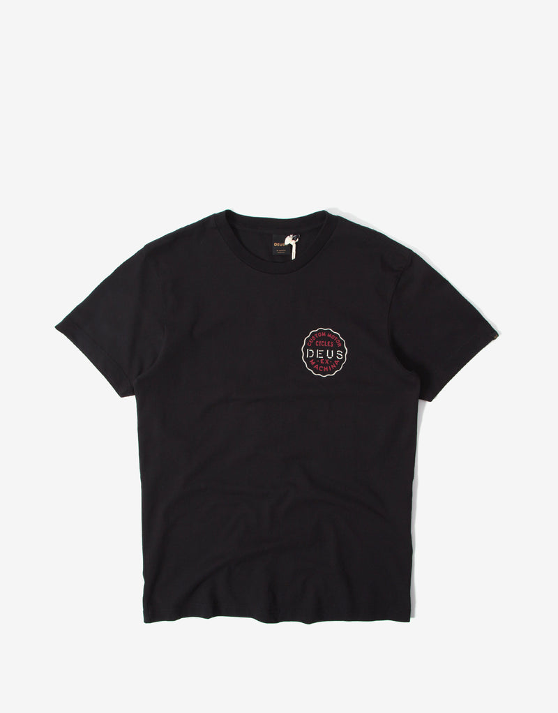Deus Ex Machina Milano Address T Shirt - Black