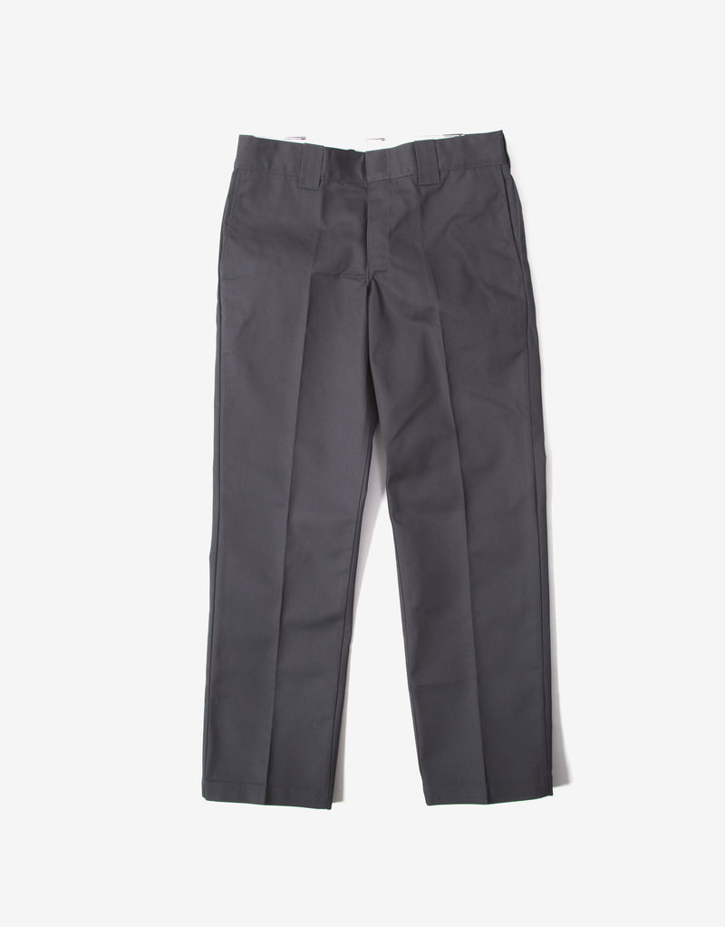 Dickies 873 Slim Straight Work Pant Trousers - Charcoal Grey