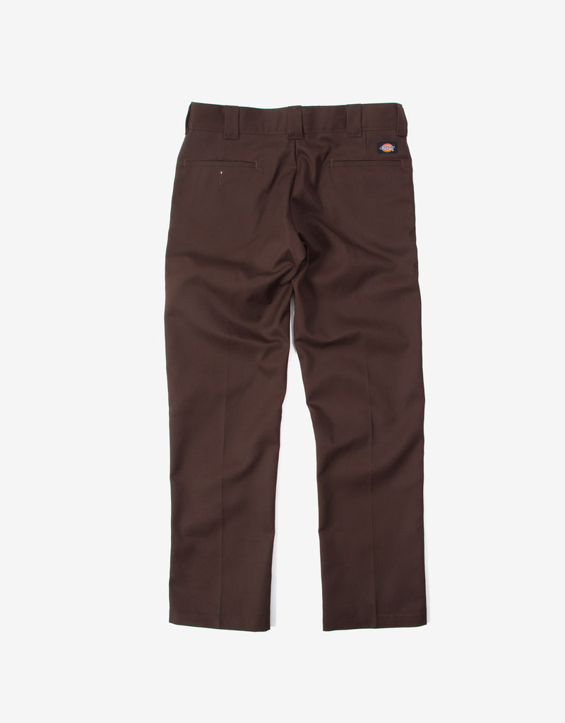 Dickies 873 Slim Straight Work Pant Trousers - Chocolate Brown