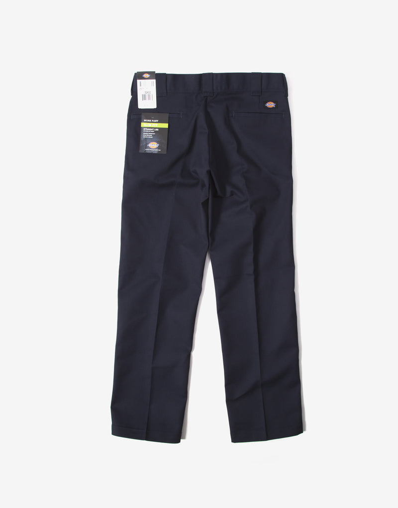 Dickies 873 Slim Straight Work Pant Trousers - Navy Blue
