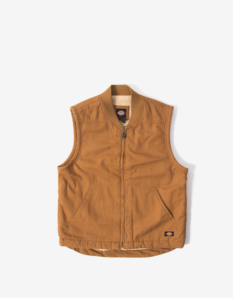 Dickies Sherpa Lined Vest - Brown Duck