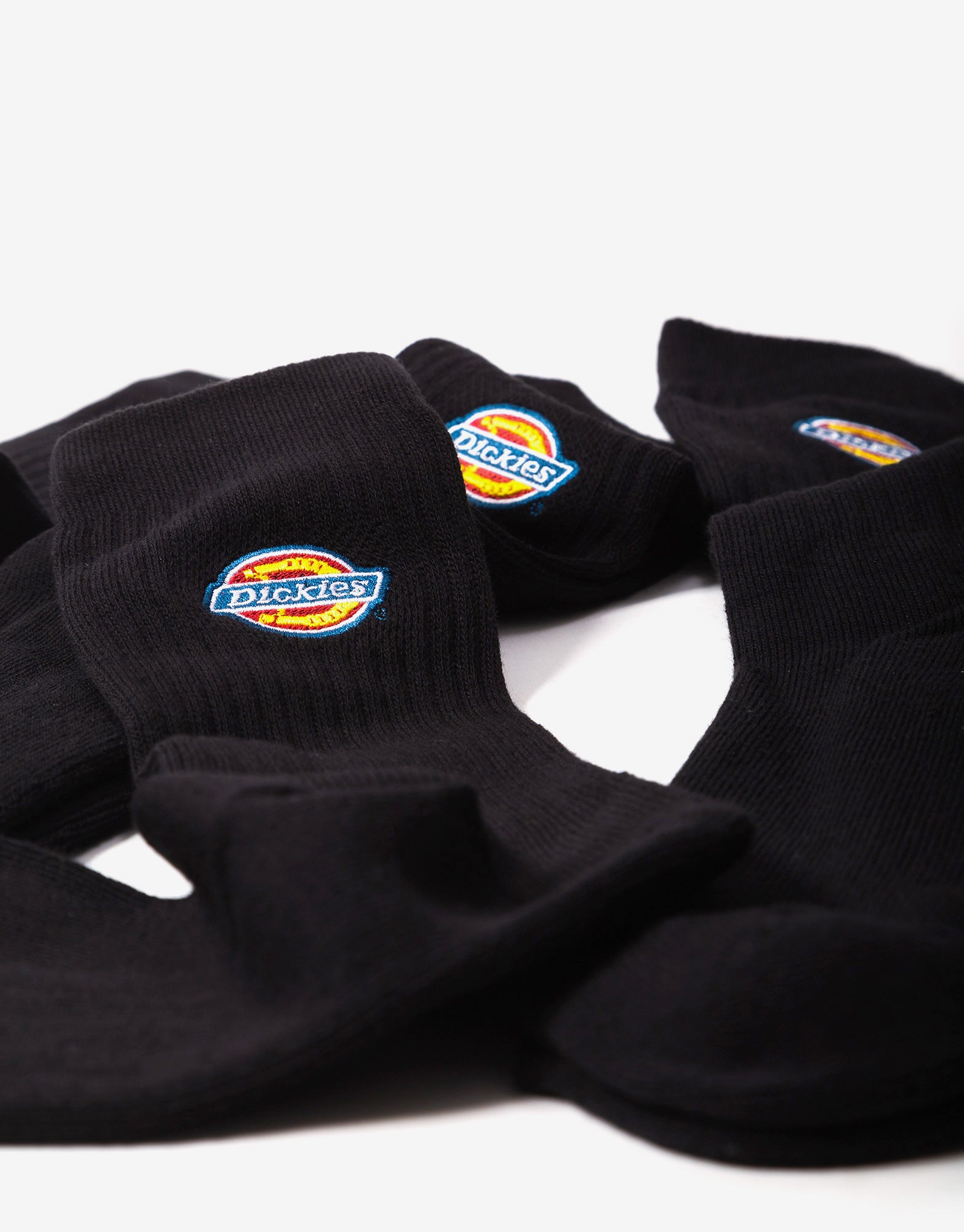 Dickies Valley Grove Socks - Black (3 Pack)