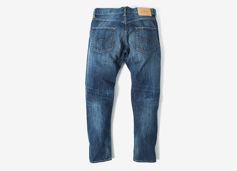 Edwin ED-55 Regular Tapered Dark Blue Denim Jeans - Grime Dirt Wash