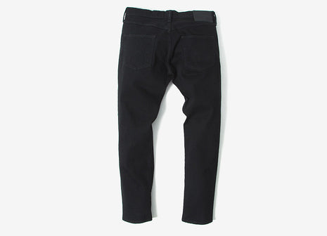 Edwin ED-55 Regular Tapered CS White Listed Black Selvedge Stretch Denim Jeans - Black