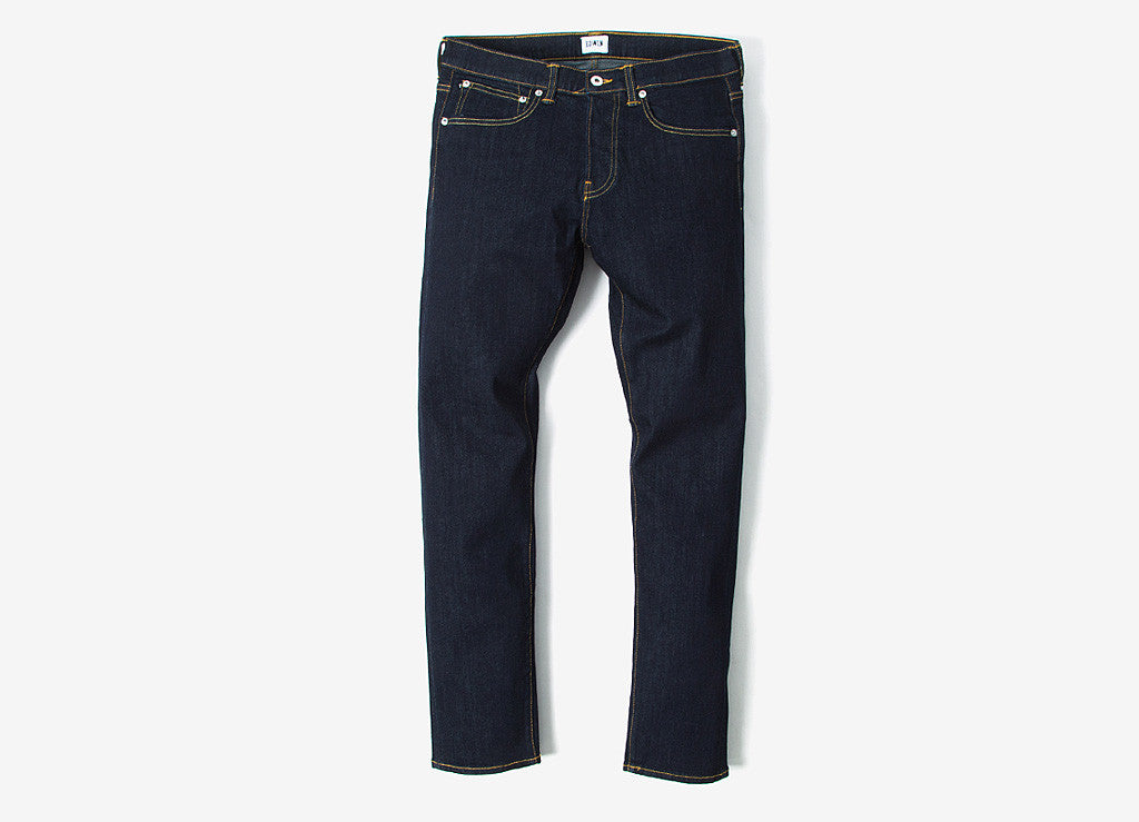 Edwin ED-80 Slim Tapered CS Red Listed Selvedge Jeans - Rinsed