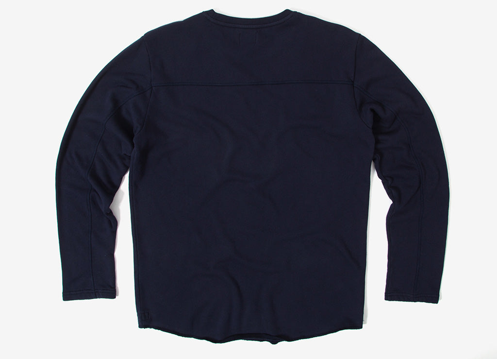 Edwin Terry Long Sleeve T Shirt - Navy Garment Washed
