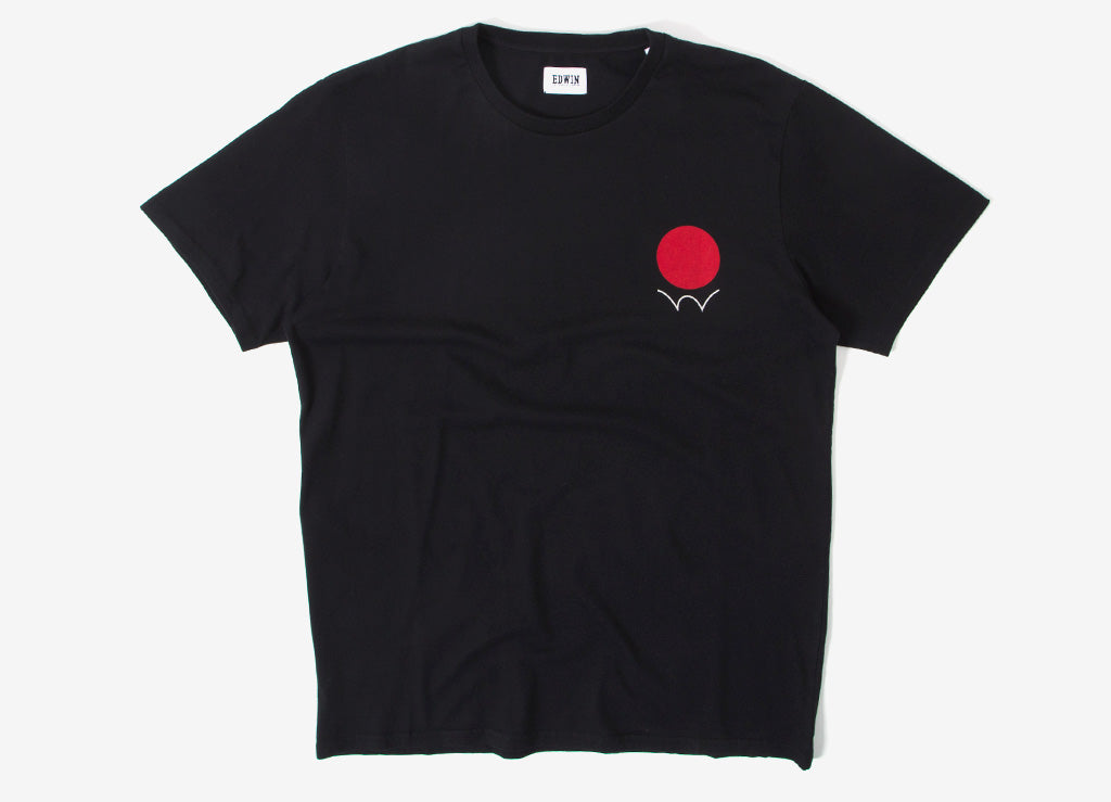 Edwin Red Dot Logo 2 T Shirt - Black
